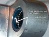 Misaligned bearing - small gap between seal and bearing