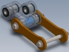 Solidworks CAD linkage assembly